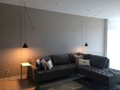 Artful installation of Flos' new String Lights by Prive Design Group for a Calgary residence. Design, interiors, lighting