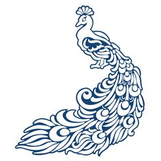 Tattered Lace Die Peacock - Another! Stencil Patterns, Stencil Designs, Embroidery Patterns, Arabesque, Cnc Cutting Design, Tattered Lace Cards, Bridesmaid Boxes, Peacock Art, Paper Birds