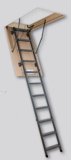 Escalera escamoteable métalica de tramos LMS