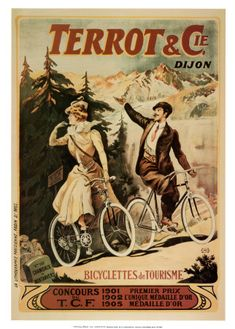 28bb8511270 Terrot, Bicyclettes de Tourisme – This is a reproduction of a vintage  French advertising art poster for ' Terrot Bicyclettes' , a French bicycle  company in ...