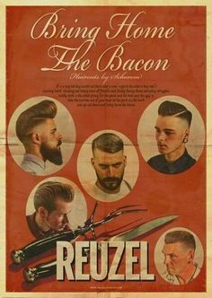 – Curso Para Cabeleireiro e Barbeiro Profissional Barber Poster, Barber Logo, Goodfellas Barber Shop, Vintage Hairdresser, Barber Shop Decor, Master Barber, Hair Pomade, Bearded Men, Vintage Advertisements