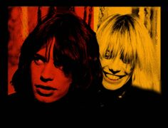 Mick Jagger and Anita Pallenberg in Performance directed by Donald Cammell and Nicolas Roeg, 1970 Mick Jagger, Crossfire Hurricane, Sugarhigh Lovestoned, The Rolling Stones, Hippie Man, Anna, Italian Actress, Brown To Blonde, Ringo Starr