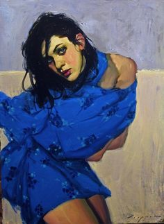 Blue Wrap by Malcolm Liepke