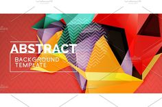 Creative Background, Mosaic Designs, Low Poly, Abstract Backgrounds, Shapes, Templates, Illustration, Poster, Stencils