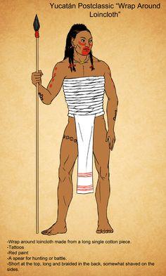 Yucatan Postclassic Male wrap around loincloth by Kamazotz on DeviantArt