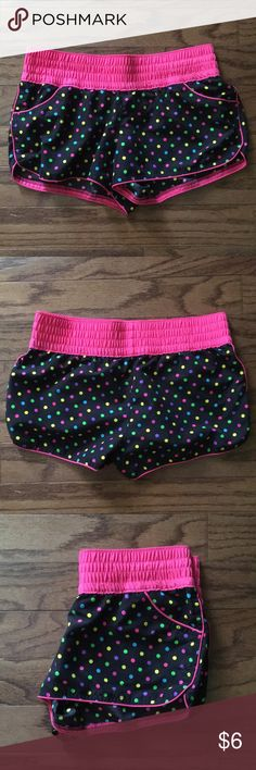 Xhilaration Polka-Dot Swim Shorts Cute cover-up shorts. Comfortable waistband. Great Condition. Xhilaration Swim Coverups