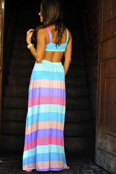 Rainbow Dreams Maxi Dress: Multi