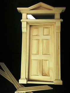 Dollhouse miniatures - DIY 12th scale victorian door