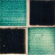 """Blue Green Field Tile, 2X2"""""""