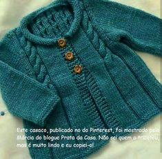 Hand Knitted Cardigan, Baby cardigan, Baby clothes, Baby, B Baby Sweater Knitting Pattern, Knit Baby Sweaters, Baby Knitting Patterns, Knitting Designs, Baby Patterns, Knitting For Kids, Knitting For Beginners, Free Knitting, Cardigan Bebe
