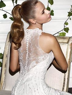 Demetrios platinum collection Style 304    close back illusion view