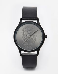 ASOS Watch With Black Skull Design