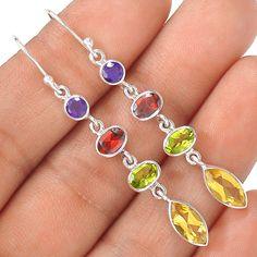 Citrine 925 Sterling Silver Earring Jewelry EE12333 | eBay