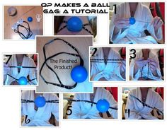 BDSM Ball Gag Tutorial by ~QuantumPhysica on deviantART (Tutorial Made By Me, check link in the description for step-by-step explanation) Punishment Ideas, Rope Tying, Diy Step By Step, Cool Things To Make, Crafty, Ropes, Deviantart, Bond, Daddy Quotes