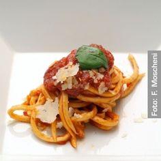 Maccaronara con ragoût di due carni e San Marzano - Chef Antonio Pisaniello