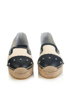 Colour-block leather espadrilles | Alexander McQueen