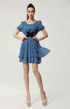 adorable petite robe en mousseline à pois
