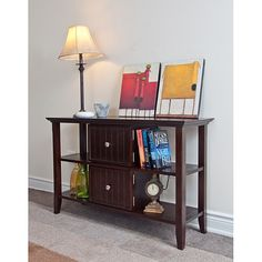 The wide Normandy Console Sofa Table is 47.5 in. wide and 16 in. deep and can be used either in your living room or entrance hallway. Perfect for displaying your family photos, keepsakes or to store your keys.