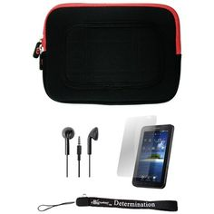Red/Black Sleeve with Interior Fur Padding for Samsung Galaxy Tablet + Includes a Durable Screen Protector + Includes a 360° Rotatable Windshield Mount by eBigValue. $19.99. Cover Sleeve with Interior Fur Padding for Samsung Galaxy Tablet Protection for your tablet. Comes with two way zipper opening, small accessory pocket inside, and cover edges to keep Galaxy secure. Light weight for hand mobility and scratch resistant. The cover is made to keep your tablet s...
