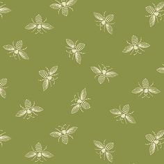 Olivette Bees from the French Bee Collection by Renee Nanneman for Andover Fabrics Andover Fabrics, Thing 1, Fat Quarters, Quilting Designs, Fabric Design, Coastal, Bees, Yard, Colours