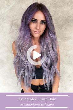 It's only the second month of 2019 and we are seeing Lilac Hair everywhere! From stars like Cardi B and Lady Gaga, everyone is following this trend. Light Purple Hair, Lilac Hair, Blue Hair, Fall Hair, Lady Gaga, Hair Looks, Dyed Hair, Hair Extensions, Short Hair Styles