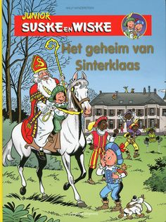 Het geheim van #Sinterklaas. Nadat ze autopech hebben gekregen, komen Suske en Wiske en tante Lies in een afgelegen landhuis terecht. Ze mogen daar bij een oude heer overnachten. De volgende dag blijkt dat het Sinterklaas is. Voorlezen vanaf ca. 5 jaar, zelf lezen vanaf ca. 7 jaar.
