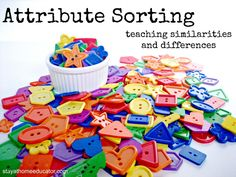 Attribute Sorting - Teaching Similarities and Differences - pinned by @PediaStaff – Please Visit ht.ly/63sNtfor all our pediatric therapy pins
