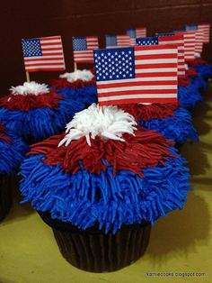 Kathie Cooks... they look like firework cupcakes