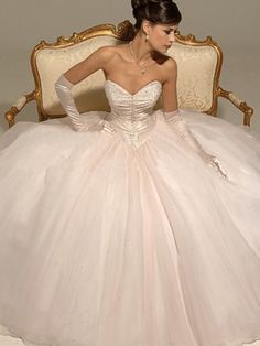 I don't care what anyone thinks. My wedding dress will be poofy and over the top.