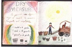 Waldorf ~ 3rd grade ~ Math ~ Dry Measure ~ main lesson book