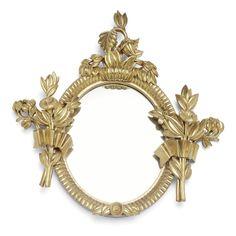 Dagobert Peche (1887-1923), Wiener Werkstätte, Mirror, Limewood, Carved with Gold Plating.