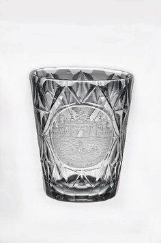 Europe, drinking glass, cut and engraved, 18th c, side 2