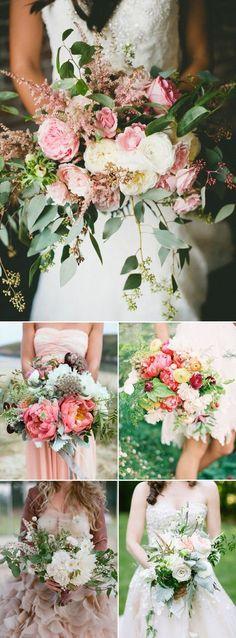 Prettiest Wedding Bouquet Trends of 2015 - Wild fresh-pick look
