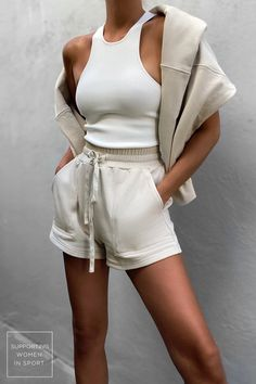Trendy Summer Outfits, Cute Casual Outfits, Short Outfits, Spring Outfits, Cute Lounge Outfits, Cute Outfits With Shorts, Shorts Outfits Women, Summer Fashion Outfits, Edgy Outfits