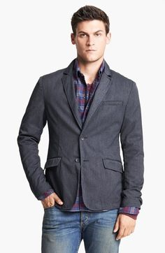 $450, Phillips Cotton Blend Blazer 38 by rag