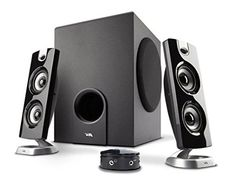 Cyber Acoustics Powered Computer Speakers for Multimedia PCs, Gaming Systems, and Laptops (CA-3602FFP)