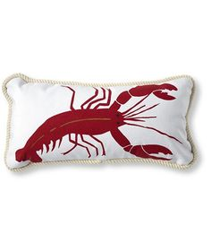 L.L. Bean Canvas Throw Pillow, Lobster