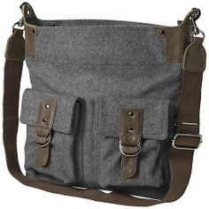Wool Daily Bag - The perfect travel bag with lots of pockets to stash your stuff is updated in a soft wool fabric to weather the colder months.