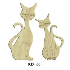 Sevimli Kediler Paket Süs Ahşap Obje KD-65