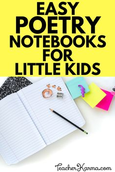 Easy Poetry Notebooks for little kids. Nursery Rhyme poetry notebook for elementary students, Kinder, and graders. Teaching First Grade, Teaching Phonics, Phonics Activities, Teaching Kindergarten, Teaching Resources, Teaching Ideas, Nursery Rhymes Poems, Resource Room Teacher, Self Contained Classroom