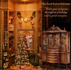 At this special time of the year, may the wonder of the season make all your dreams come true!  This charming scene showcases the newest piece from The Ferd Sobol Editions, The Breakfront in a moment of Christmas Eve mini magic. 1/12th scale. See more of it here: http://thesoboleditions.blogspot.com/2013/03/Breakfront-Ferd-Sobol-Editions25.html  Merry Christmas - Joyeux Noël - Feliz Navidad - God Jul - Buon Natale - Vrolijk Kerstfeest - Glædelig jul - Hyvää joulua - Feliz Natal!