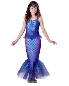 Fantasia Infantil Sereia Azul