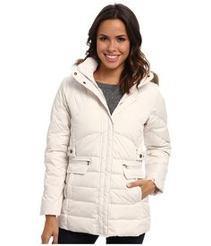 Larry Levine Warm Down Filled Jacket w/ Faux Fur Trimmed Hood