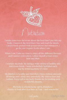 Affirmation - Nutrition by CarlyMarie