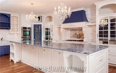 Blue Granite Countertops, Granite Kitchen, Kitchen Island, Kitchen Countertops, Tuscan Decorating, Kitchen Tops, Kitchen Remodel, United States, Islands