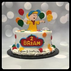 Caillou Cake - Cake by Cakes & Crafts by Kass Buttercream Cake, Fondant Cakes, Caillou Cake, Cake Craft, 3rd Birthday, Cake Decorating, Kitchen Design, Birthdays, Passion
