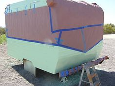 painting a trailer