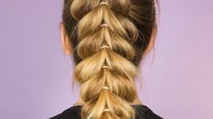 Upside Down Heart Braided Ponytail: This braided ponytail look is the perfect summer hairdo!