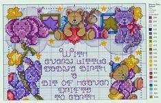 Dmc Cross Stitch, Cross Stitch For Kids, Cross Stitch Needles, Cross Stitch Baby, Cross Stitching, Baby Chart, Everything Cross Stitch, Baby Cross Stitch Patterns, Cross Stitch Pictures
