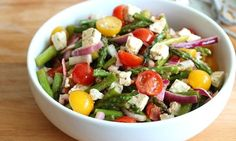 This grilled asparagus salad is quick to make, beautiful, and ...